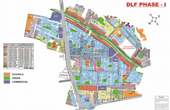 DLF Phase 1 Map Gurgaon | DLF Phase 1 Plot Map | DLF phase 1 Gurgaon Plot MAP