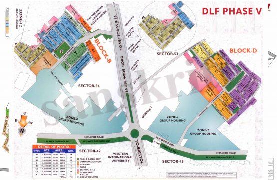 DLF Phase 5 Map Gurgaon | DLF Phase 5 Plot Map | DLF phase 5 Gurgaon Plot MAP