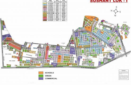Sushant Lok Phase I Map Gurgaon | Sushant Lok I Plot Map | Sushant Lok 1 Gurgaon Plot MAP