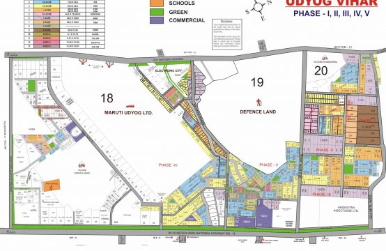 Udyog Vihar Phase 1,2,3,4,5 Map Gurgaon | Udyog Vihar Phase 1,2,3,4,5 Plot Map