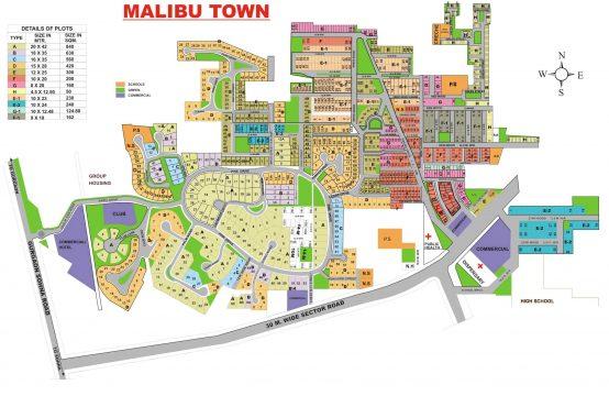 Malibu Town Map || Plots & Land for Sale in Malibu Town Gurgaon